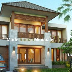 Model Rumah Minimalis 2 Lantai Bu Vina Homedsgn