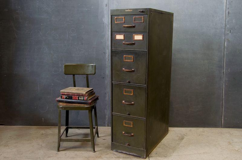 Metal Filing Cabinets. Vintage Industrial Chic Metal Filing ...