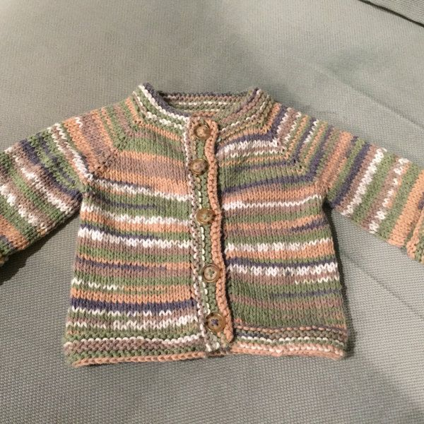 A simple and fuss free baby cardigan, ideal for a knitter who is new ...