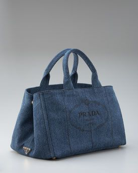 2dcdb51bf87 Prada denim bag. hmmmm why not? | I am a Material Girl | Bags, Denim ...