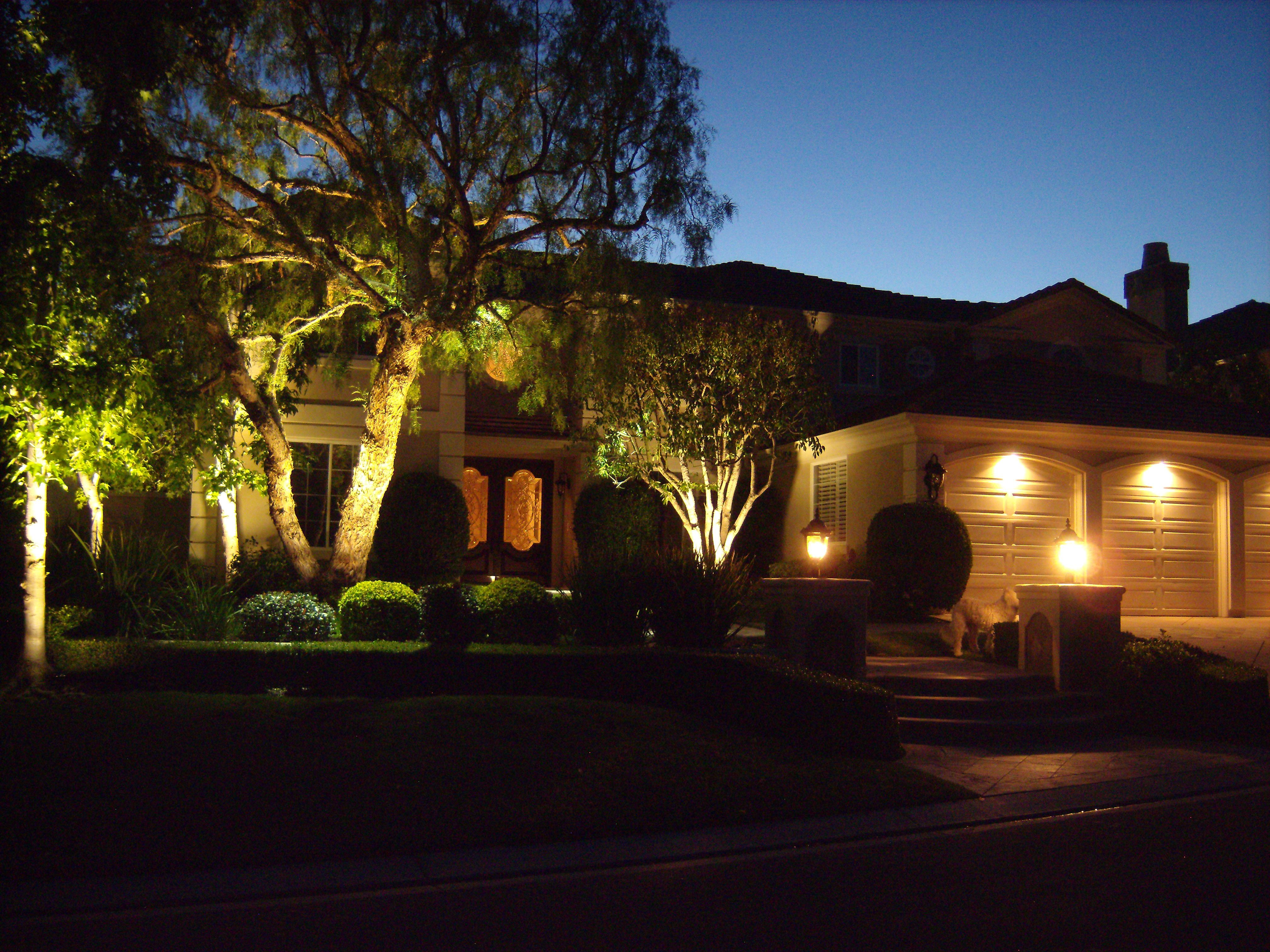 Led Landscape Lighting On Home In Coto De Caza Orange
