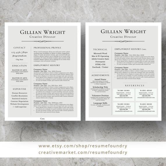 elegant resume template for word  1