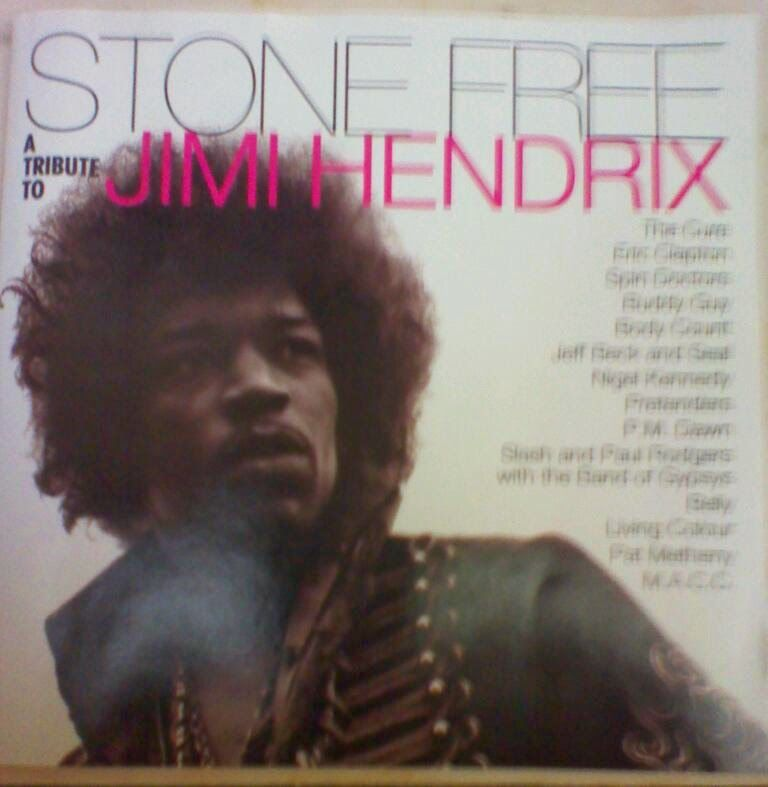 "Experimental artists and rock 'n' roll heavyweights pay tribute to Jimi Hendrix on ""Stone Free"" (1993)."