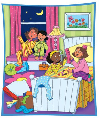 Sleepover pajama party pictures clip art - WikiClipArt