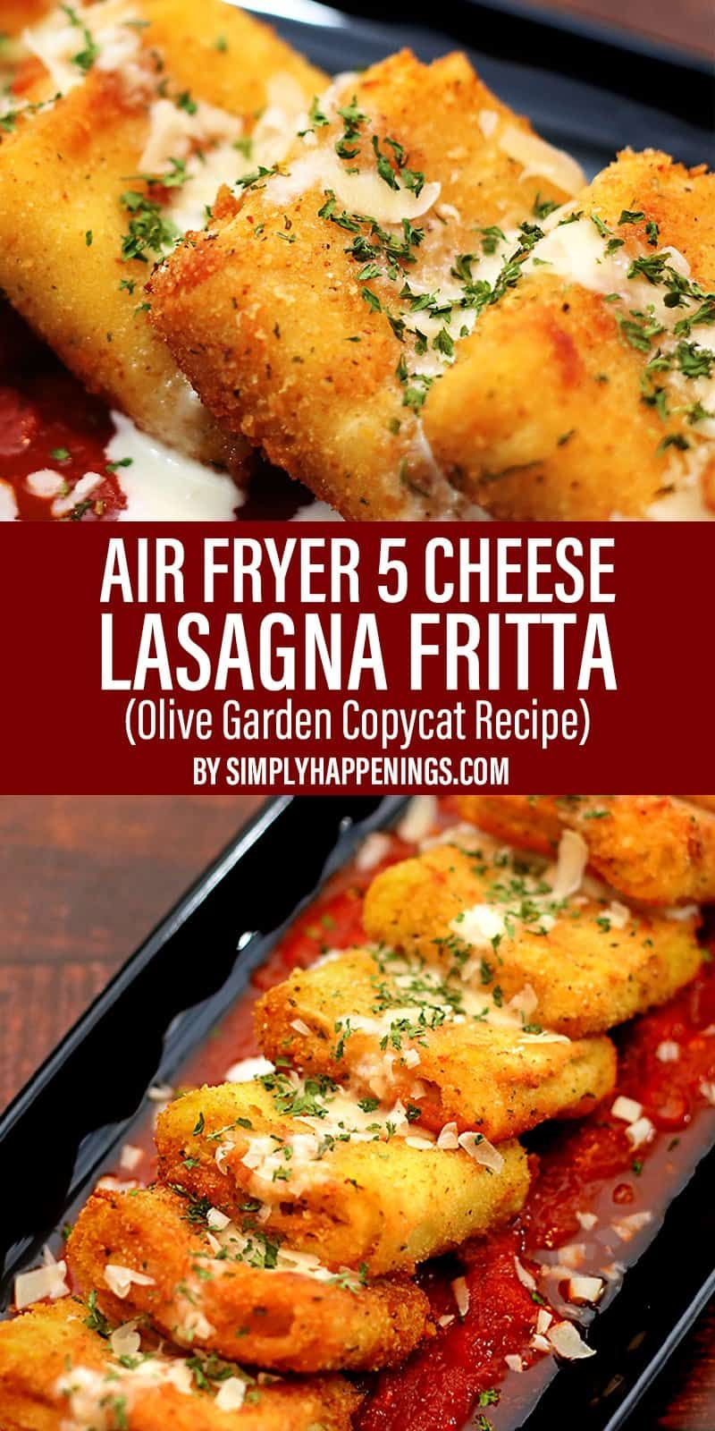 Easy Air Fryer Five-Cheese Lasagna Fritta