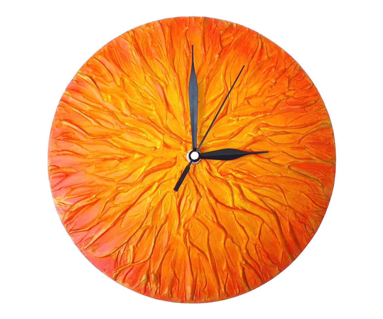 This Item Is Unavailable Etsy Orange Clocks Unique Wall Clocks Unique Clocks