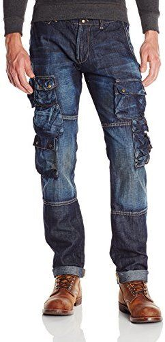 fc0fe31b8e5251 Rugged jeans, PRPS Goods & Co. Men's Utility Denim Cargo Pant ...