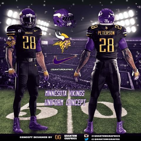 super popular 77401 3a9a4 black and purple vikings jersey