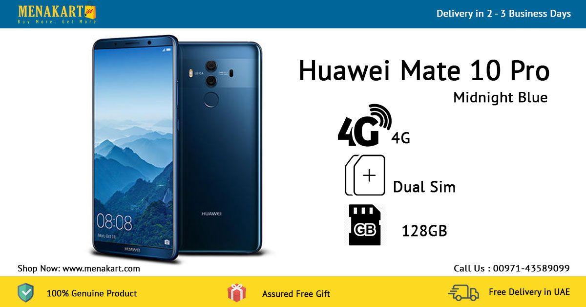 Huawei Mate 10 Pro 4g Dual Sim 128gb Midnight Blue Online At Menakart Com Dual Sim Huawei Mate Midnight Blue
