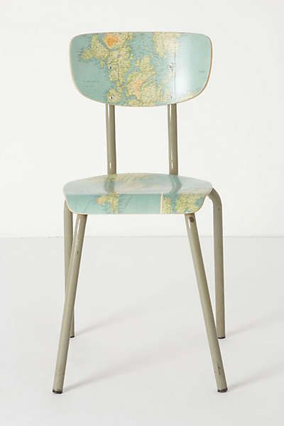 Anthropologie - Geography Lesson Chair