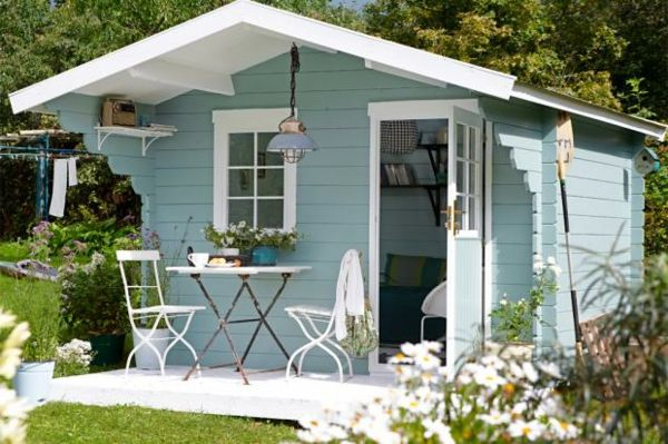 Gartenhaus schwedenstil grau  wunderschönes Gartenhäuschen in Hellblau | ~garten~ | Pinterest ...