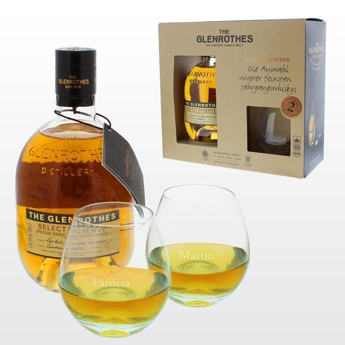 Gravierte Whisky-Gläser mit Glenrothes Select Reserve | Pinterest ...