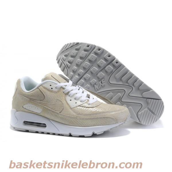 Nike Air Max 90 (hommes) Beige / Blanc en cuir python Air Max ...