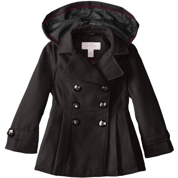 5d6d281dd72a Amazon.com  Jessica Simpson Little Girls  Hooded Peacoat  Clothing ...