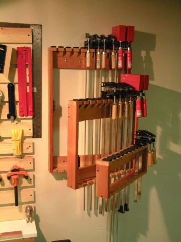 Space Saving Bar Clamp Racks Woodworking Tools In 2019 Garage