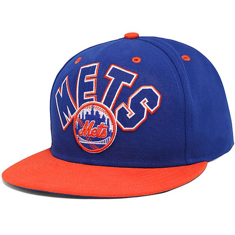 5d5e1f39d21 New York Mets New Era Big Word 59FIFTY Fitted Hat - Royal Orange ...