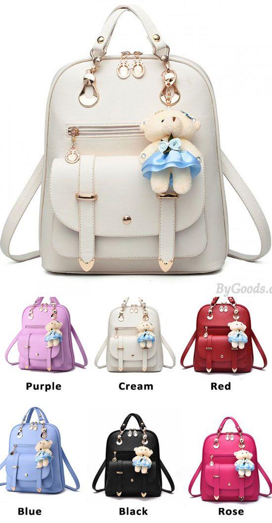 24e2c0b3f97 New College Women Bag British Bear Multifunction Handbag Backpacks  new  college  british  backpack  bag  Pockets  student  rucksack  college   fashion