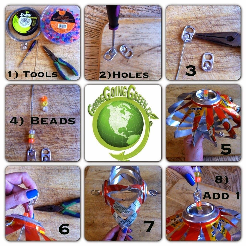 . . . . . How to Recycle: Wind Spinner Soda Cans