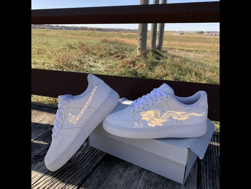 Japanese Dragon Reflective Air Force 1 in 2020 | Nike air