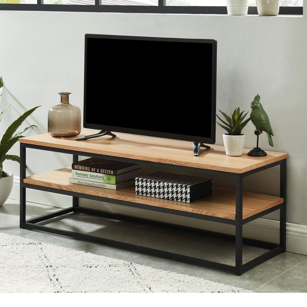 Meuble TV industriel en bois et en métal – IVICA