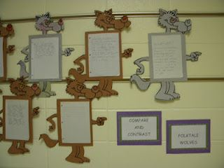 Compare and Contrast Wolves from Folk Tales...Red Riding Hood wolf vs Three Little Pigs wolf