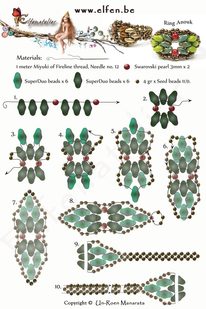 Free superduo beaded ring pattern from featured in bead patterns free superduo beaded ring pattern from featured in bead patterns newsletter baditri Choice Image