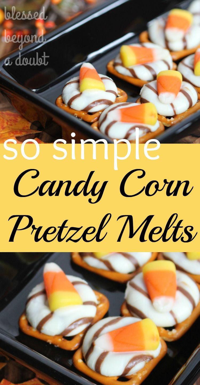 Candy Corn Pretzels Melts