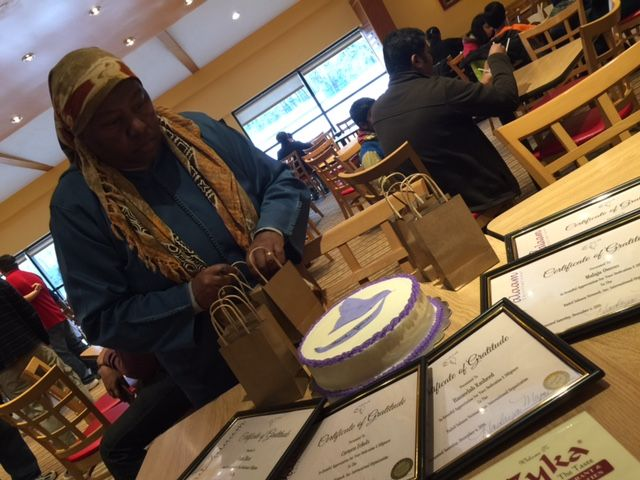Me fussing over everything at our Volunteer Appreciation Event.