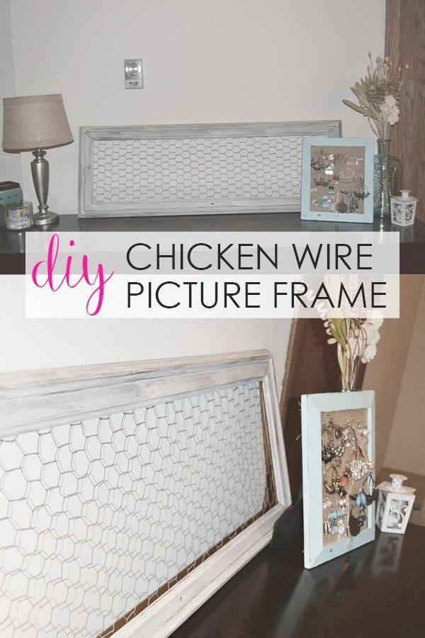 Diy Chicken Wire Picture Frame Cheap Home Decor Easy Home Decor Decor