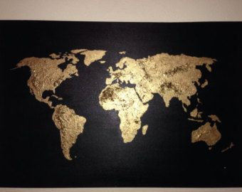 Original world map painting a world of color i by rightgrain wood original world map painting a world of color i by rightgrain wood art pinterest map painting originals and gold leaf paintings gumiabroncs