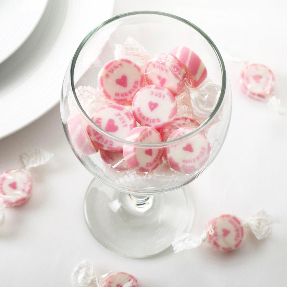 Pink Just Married Rock Sweets - 300g | My Wedding | Pinterest | Rock ...