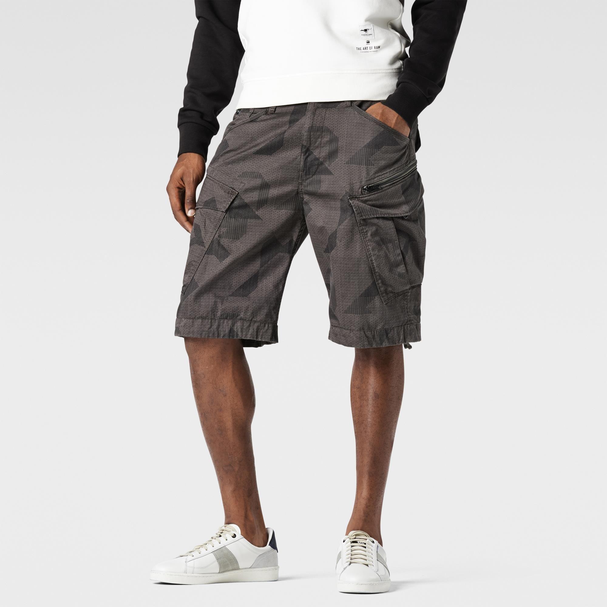 G-Star RAW | Men | Shorts | Rovic Camo Zip Bermuda , Raw Grey
