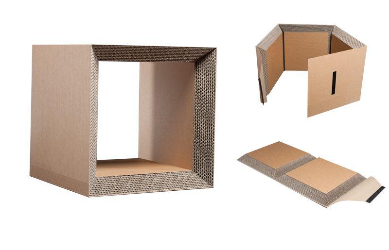 Foldable Corrugated Cardboard Stool Shelf Module Karton Design Diy Karton Karton Mobel