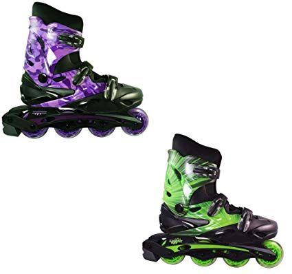 1c17529c88126 Linear Roller Blades – Inline Skates for Women, Men, Kids – Adult & Child  Patines Roller Skate Blade – Rollerblades Women/Rollerblades Men (Green  Lazer, ...