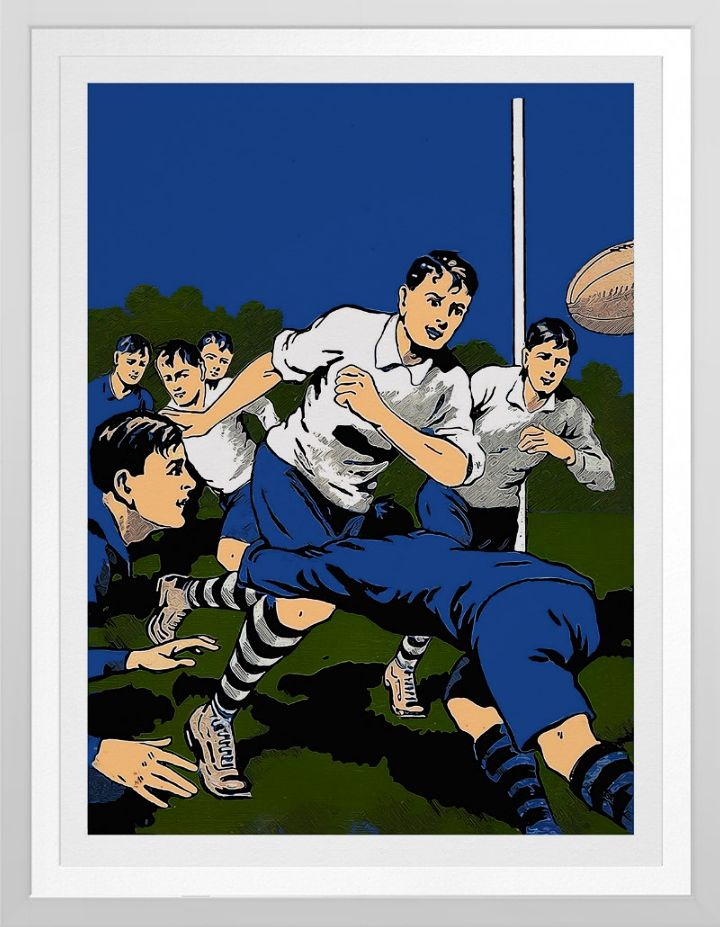 Boys Vintage Rugby Poster | Zazzle.com
