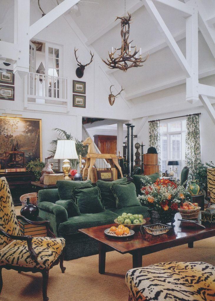 The Peak of Chic®: The Houses of Veranda The green velvet ... Designs Sketch Home Ofveranda on