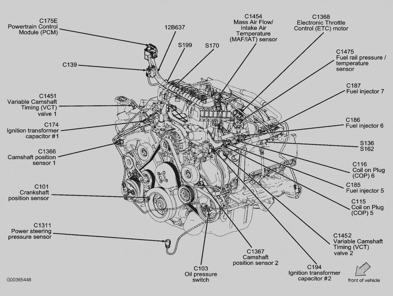 Image result for 2001 ford f150 4.6L exhaust system diagram