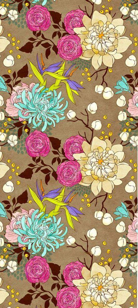 Flowers vintage wallpaper iphone floral prints 64 Ideas