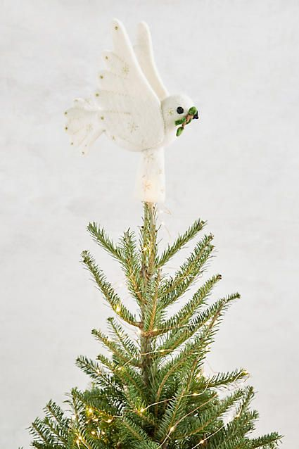 Felted Dove Christmas Tree Topper - Felted Dove Christmas Tree Topper Ideas From Mi Mama Pinterest
