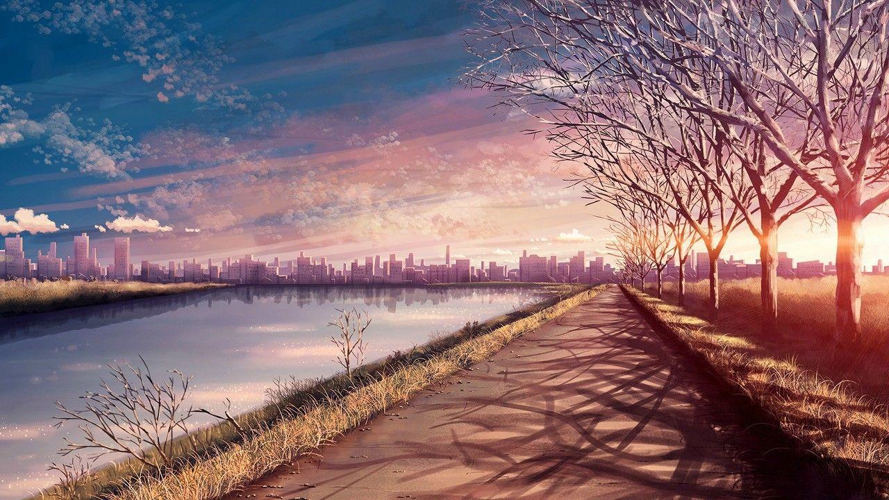 Anime Scenery Sunset Wallpaper Anime Background Scenery Wallpaper Anime Backgrounds Wallpapers