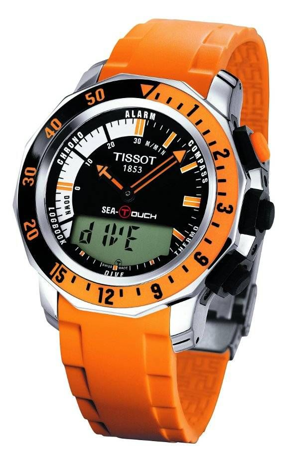 Tissot Sea Touch Diving Watch I Don T Dive But I Dig This Watch Tissot Watches Dive Watches Watches For Men