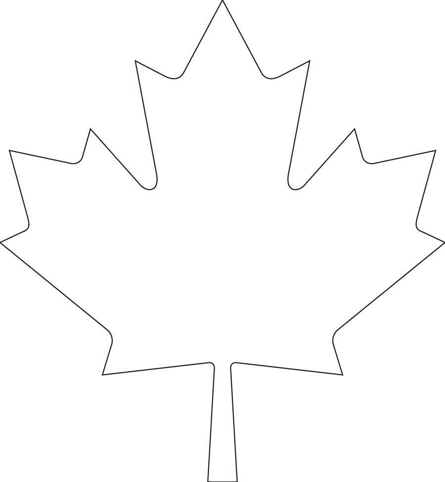 Downloadable maple leaf template for your Canada Day crafts ...