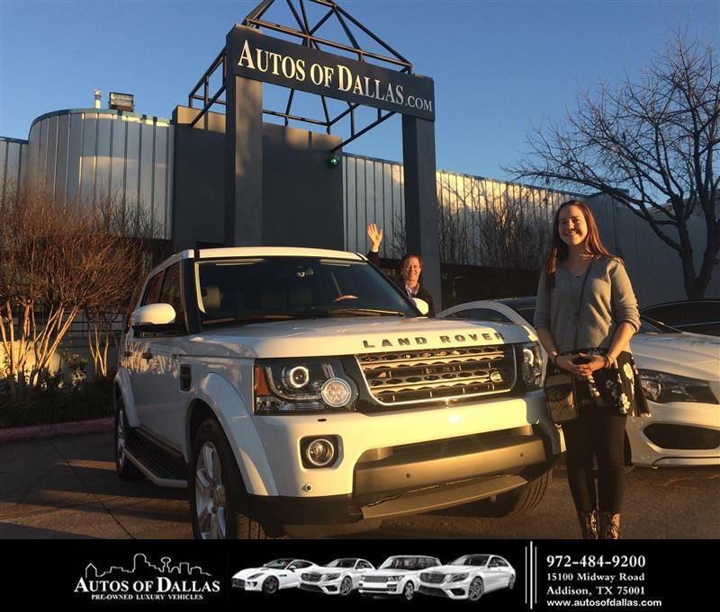 Congratulations Christina on your Land Rover LR4 from