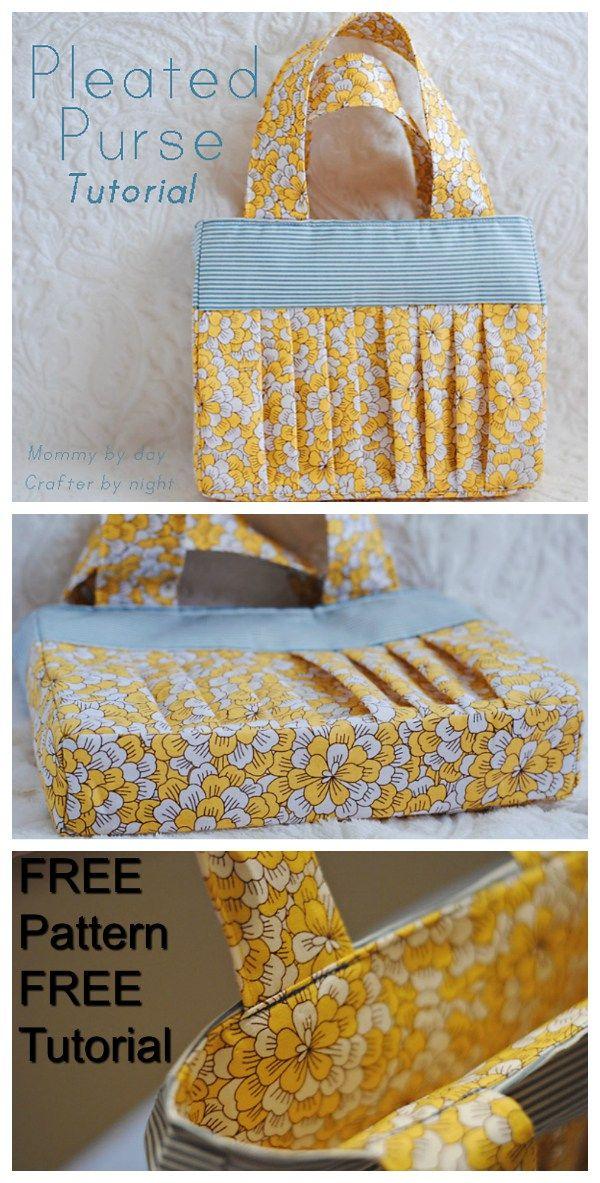 Pleated purse - FREE pattern | Taschen | Pinterest