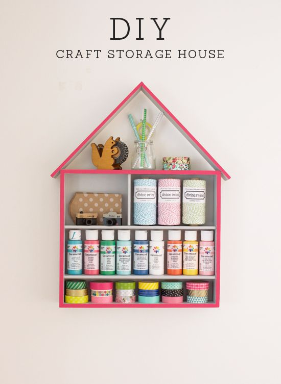 DIY craft storage house // At Home in Love