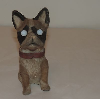 Antique German Bull Dog Toy Google Eyes Cloth Over Papermache Animated | eBay