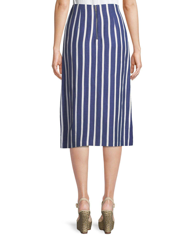 402ded8eb437 Alice + Olivia Sabrena Front-Slit A-Line Midi Skirt | Products ...