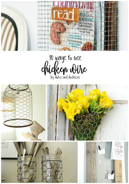 10 ways to use chicken wire | Craft and DIY Projects | Pinterest ...
