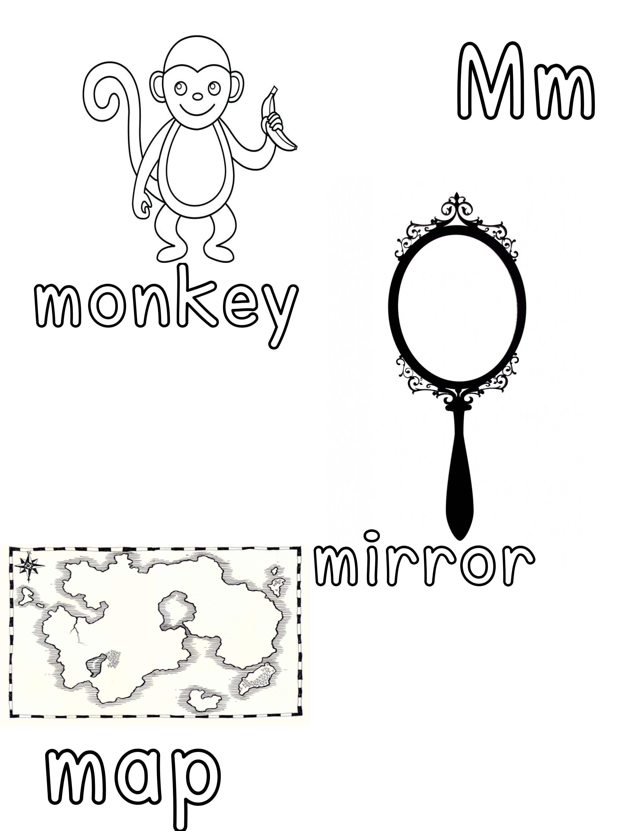 Phonetic mm coloring sheet free printable free preschool