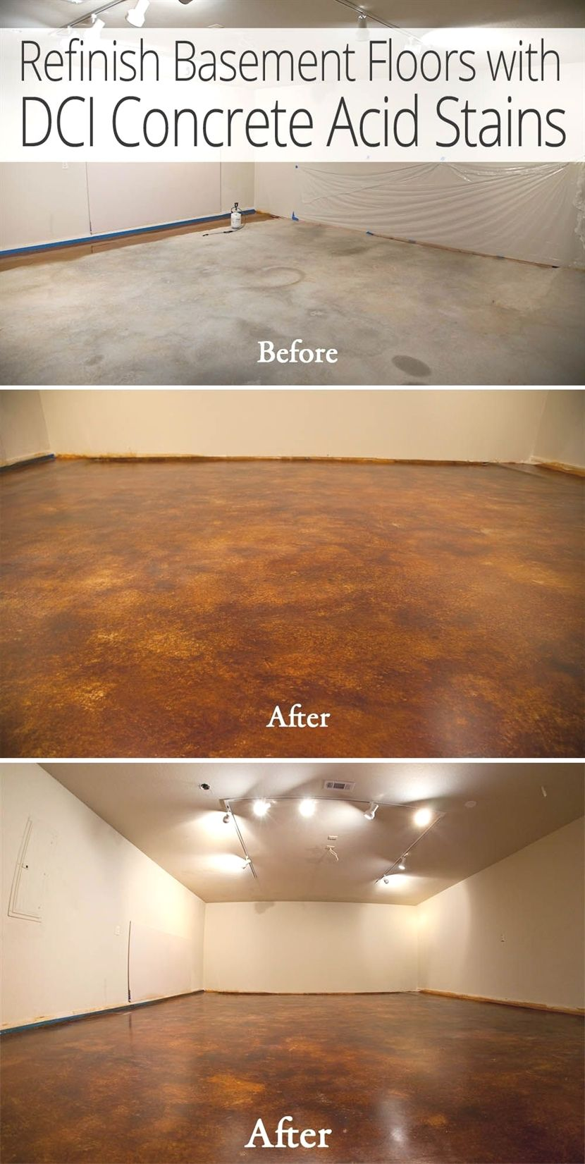 Remodel Bat Floors For Less With Dci Acid Stain And Concrete Sealer Hle Free Option To Carpet Batideasfinished